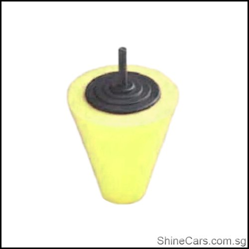 Shine Mate Yellow Cutting Cone Drill Attachment